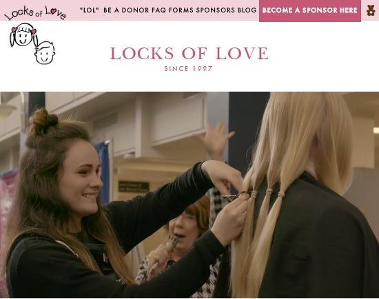 アメリカヘアドネーション団体 Locks of Love